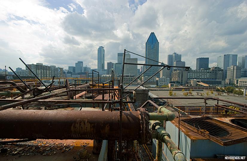 Montreal vue depuis la brasserie Dow