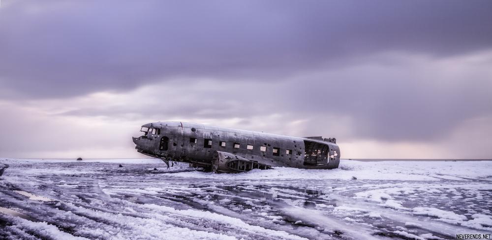 avion abandonné islande DC3