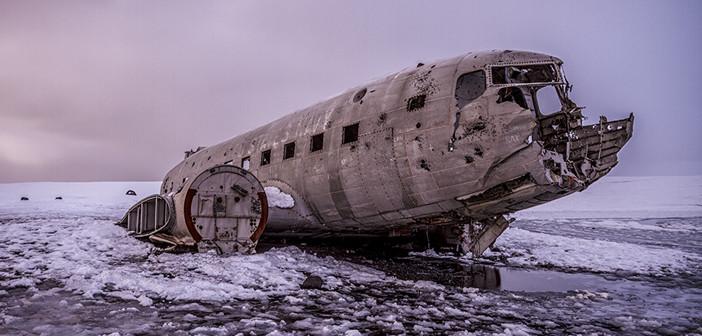 Un avion abandonné en Islande